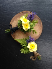Bright and fresh Spring buttonholes